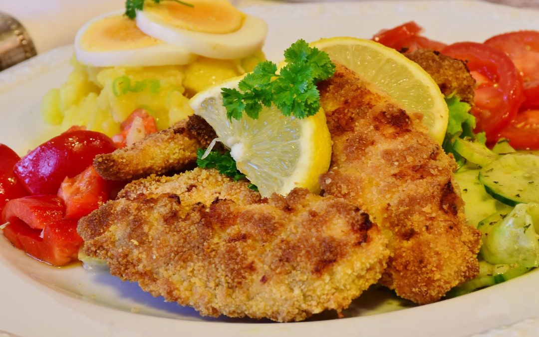 Organic Chicken Schnitzels with Garlic Aioli